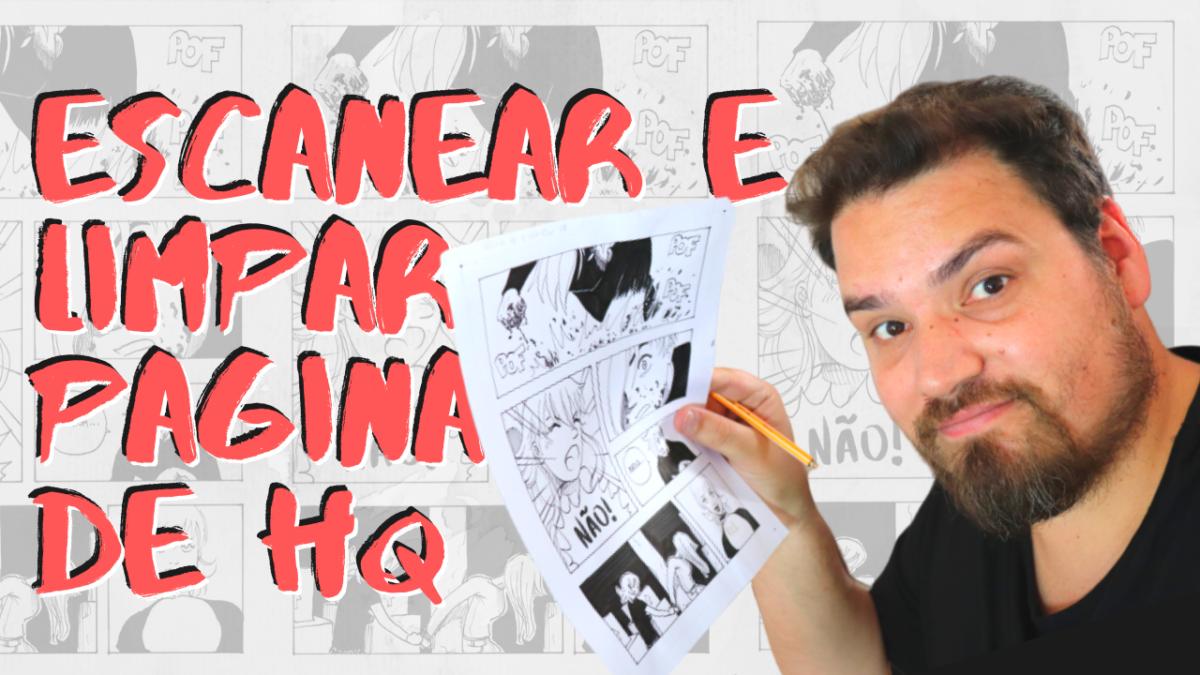 Como escanear e limpar uma página de quadrinhos