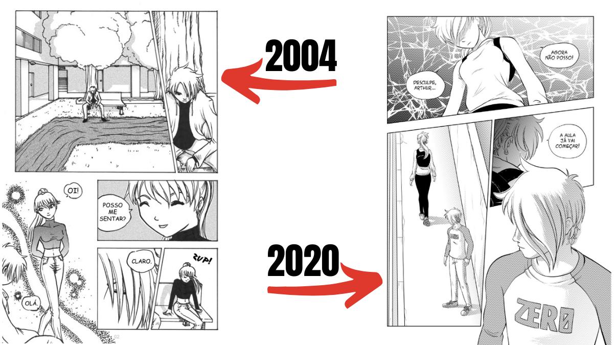 Vergonha dos quadrinhos que fez no passado
